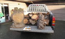 Red and Yellow Cedar, Maple, burls mostly birdseye and great for tables and clocks.  Many twisted pieces for legs and lamps.  Burls for making bowls.  All wood burls cured.  Price negotiable.