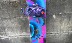 Snowboard 144cm Burton Lexa EST bindings