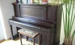 Burton Piano for sale. Tuned 3 years ago. Great sound and good overall condition. Easy to move as no stairs involved. Great for a student or child starting out with lessons.