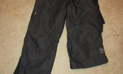 I am selling my ladies Burton Snowboarding Pants, size Medium.  Worn only a handful of times, they are in fantastic shape.  I am selling because they are too big for me now.  Asking $100.00 firm. Paid $250.00