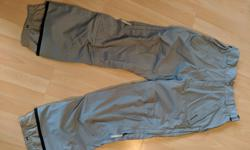 These Burton snowboarding pants are awesome! Stay warm, dry, and comfortable all day long. With an adjustable waist it fits a 28 - 36 easily and the leg is aprox 32-34. Burton has sized these pants as a medium. Trilaminate material that breaths and stays