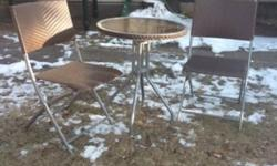 Great for small space! Sturdy , 2 folding chairs This ad was posted with the Kijiji Classifieds app.