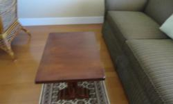 "wood café table 52"" long x 26"" W x 18"" H perfect condition. for information please call 250 391 4865"
