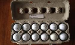Big Bertha golf balls in good, used condition. Just in time for the golfing season!! Price is per dozen.