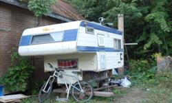 Early 70's import camper for sale. Fits import style truck, older Toyotas, sonomas, rangers ect. Has stove top, 2 way fridge, and a catalitic furnace. Everything worked last time I tried them. Just painted the inside, needs some panelling and insulation