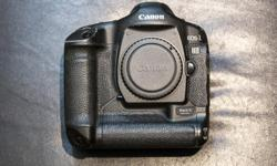 Older flagship canon camera. Extremely good AF, high burst rate, and insane build quality. There is some paint damage, and shutter count is ~80K last time I checked. Comes with box, AC power unit, Charger with 1 3rd party battery. Feel free to ask any