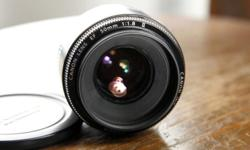 Mint condition like new, with front and rear caps. Great affordable portrait lens for Canon DSLR.