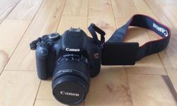 I am selling my Canon EOS Rebel T3I and 18-55mm lens. It is in excellent condition, have only used it a few times. No scratches or damage. I am selling because I never use it.