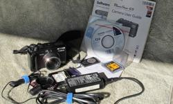 """Canon G5 Camera: 5MP, 1.8 LCD. For more information see: http://http://www.imaging-resource.com/PRODS/G5/G5A.HTM It is in good condition and looks almost like new (I take care of my """"stuff""""). The only sign of wear is to the icons on the mode dial. See the"""