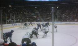 I am a Season Ticket Holder with a pair of seats located in upper and lower bowls: 2- Section 309 Row 11 Great Seats on the Blue line of the Visitor side so you'll be able to watch the Canucks shoot on their opponent twice. Alcohol permitted in this