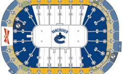 Two seats in Section 315, Row 11. Balcony level - End. Canucks shoot 1st/3rd periods, plus shootout, if necessary. Side-by-side seats, alcohol is permitted. Unobstructed view overlooking right face-off circle. View seating chart for location. I'm out of