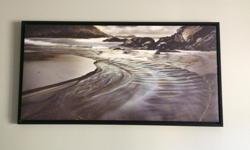 """This gorgeous 50""""x 26"""" framed canvas print is up for sale. Subtle earth tones allow this art piece to easily match many different room types and colors For sale $100 firm."""