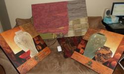 "3 canvas wall prints. 1 @ 36"" X 24"" 2 @ 24"" X 24"" call mark 250-714-6750"