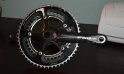 I'm looking to part with a crankset I recently acquired. The cranks were intended for a single speed build; however, after losing out on two frames on two separate occasions I've ultimately lost interest. The crank arms measure 175mm, and the teeth have