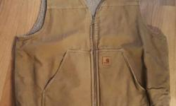 I have a real, barely worn Carhartt work vest for sale. It's incredibly warm, but I just found it did not suit my style after I purchased it. Extremely high quality as with all Carhartt apparel. Vest is a size xl. Posted with Used.ca app