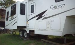 Ready for your winter get-away. 31 ft. Carriage Compass aluminum frame 5th wheel in excellent condition. 3 slides, winter package, awning,queen bed,  all the extras. Non- smokers. Make an offer.