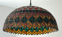 VERY VERY Beautiful CASA VELASCO REAL Leaded STAIN GLASS LARGE Dinning Room Ceiling hanging lamp price real stained glass beautiful colors $ 699.00 offers Come see make offer 778-557-9199