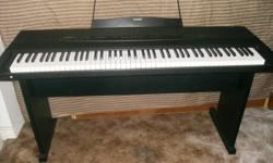 THIS IS IN LIKE NEW CONDITION 52 KEY PIANO,CASIO SO GREAT BRAND ,GREAT SOUND,COMES WITH BENCH AND FOOT PEDAL,PLEASE PHONE 250-741-7777 THANKS     (  COMES WITH MANUAL )
