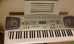 Full-size Keyboard with Backlit LCD, MIDI, Memory, Advanced 3-step Lesson system, Voice grading function and Sing Along Function. The Casio SP-20 is a traditional piano-style pedal that plugs into your Casio keyboard or digital piano. It is designed to