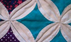 All Hand Crafted ~ Cathedral Windows Quilt This vintage quilt has been lovingly crafted completely by hand; every stitch made with the utmost care. It was surely years in the making and is truly a one-of-a-kind item. This quilt does not show any wear or