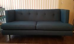 """Excellent condition sofa with only minor sun fading, still firm and without damage. Retails for $1800+ Overall dimensions - width 65"""", depth 34.5"""", height 29.5"""" Please inquire with *text* only"""