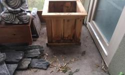 used on covered patio for 2 years only. 18 inches wide 16 inches tall