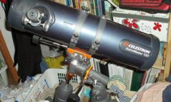 Used twice, mint condition. $250 OBO   Celestron AstroMaster 130EQ Comes with tripod and 10mm and 20mm lenses. Great starter scope, just havent had the time to enjoy it.