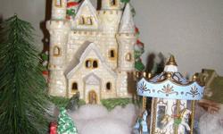 Beautiful Ceramic Christmas Castle perfect for village scenes.
