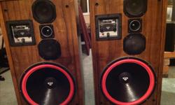 """Vintage Cerwin Vega D-9 speakers. Very well known amongst the Audio crowd and regarded as possibly one of the best speakers Cerwin Vega made. Very sought after. Speakers and grills are in Excellent condition. Professionally re-foamed 15"""" woofers. Sound"""