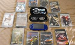PSP has had protevtive screen on since day 1 and is in amazing condition! hardly used and shows by the excellent condition it is in!! battery is very long lasting and i have 12 games! -MANHUNT 2 -NEED FOR SPEED UNDERGROUND RIVALS -METAL GEAR ACID