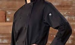 New Black or White chef coats regular $59. on sale $20. New White Chef shirts regular $29. on sale $10 locoation: Central Duncan contact Ayla at 250-597-4505