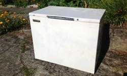 Admiral chest freezer. Unit runs and cools but seems to have lost ability to freeze. Maybe you can fix it? It's free for pickup in the driveway of 1334 Vining St in Fernwood. Dimensions 42 wide. 24 deep. 34 high.