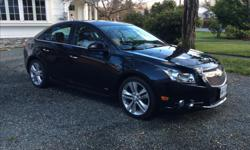 Make Chevrolet Model Cruze Year 2013 Colour Black Granite Metallic kms 101500 RALLY/ SPORT CHEVY CRUZE LTZ RS 2013 FULL LOAD COMFORT AUTO!!!!!!! 1.4 L Turbo Ecotec , 6 Speed Auto/Trans ,Remote Start and Remote Entry, Power Sun Roof, Power Seat, HEATED