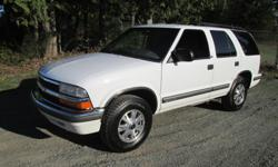 Make Chevrolet Model S10 Blazer Year 1999 Colour WHITE kms 188000 Trans Automatic 1999 CHEVY BLAZER 4DR 4X4 4.3 L, 6 cylinder auto trans. has 188,000 k's on it, full load ps, pb. cc. pw. ac . good brakes like new tires no leaks no noises very clean suv.