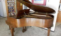 1968 Chickering 5-foot baby grand piano, excellent condition for its age. Could use a tuning and the very highest C key needs a new felt striker on its hammer. Piano bench included I will include a professional piano moving skid, also in like-new