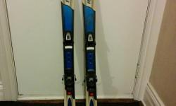 Used Rossignol skiis with Salomon 300 bindings