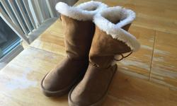 These boots were bought at old navy and were use a handful of times. My daughter mostly wore them inside the house as slippers