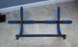 Chin up bar for sale. Very good condition. Only $25. We are located in Orleans. See our list of other items for sale. First come, first served.