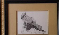 "Chipmunk sketch in frame, measures 9"" x 7 1/2"" $20 obo , cash sale only will not ship. Please phone 2505914953 and ask for jack, if no answer please leave a message and I will return your call. Please no calls before 9 am or after 10 pm. Please don't"