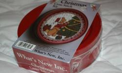CHRISTMAS COOKIE TIN KIT FOR CROSS-STITCH. New and still sealed. Everything included.
