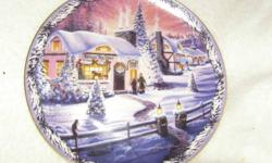 Collector plates in excellent condition, $25 each or all three for $60.   Renee McGinnis 1995 Christmas in the Village first issue. The Village Toy store. Bradford Exchange. Also A New Fallen Snow and Goodnight Dear Friends. All with paperwork and