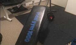 get in a variety of workouts on this for abs, arms... works great, selling due to space limitations