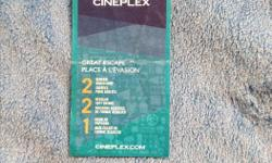 Hi I am selling 1 cineplex movie ticket for $20 that is with a $6 discount on this ticket and this is what you get with it. * 2 General Admissions * 2 Regular Soft Drinks * 1 Regular Popcorn That is a amazing deal all for $20 come and pick it up first