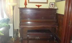 I have for sale a Circa 1910 Upright Clawfoot Mahogany Piano & Bench made by RAMSEY PIANO TORONTO in very nice condition. Ivory keys are all intact. No reasonable offer refused, must sell