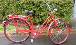 """I bought this breathtaking Dutch style stepthrough bicycle for my wife. Unfortunately she is 5'1 and this bike frame measures 21.5"""". It is too tall for her and as a result, this bike has literally never been ridden. It is ready for a summer of stylish"""