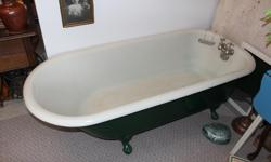 Clawfoot tub in good condition with original taps. It's sitting in our hallway, we've never used it and it must be moved. Great price, $1,100 or best offer.