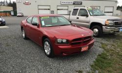 Make Dodge Model Charger Year 2007 Colour Red kms 147888 Trans Automatic ON SALE! CLEAN ONE OWNER 2007 DODGE CHARGER SXT, 3.5L HIGH OUTPUT, AUTOMATIC, RWD, 147,888KMS LOCAL VEHICLE FROM NANAIMO, NO ACCIDENTS, WELL KEPT, NEW WINTER TIRES, COMES WITH CLEAN