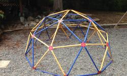Great addition to the back yard playground! Metal climbing dome is approx. 8' wide at the base and about 4' tall in the centre. Kids love this! Over $250 new...asking $75 now.
