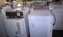 Includes: 3 Coin Operated Whirlpool Washers 4 Coin Operated Whirlpool Dryers All machines purchased at the same time and are matching. Purchased approximately 5 years ago. Washers are currently set up for $2/wash, dryers $1.50/dry. Dryer cycle is 45