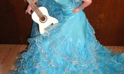 24'' COLLECTABLE doll beautiful Spanish lady with guitar very nice shape open to best offers